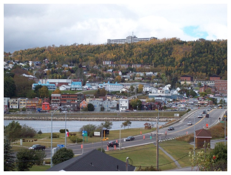 The designer's hometown, GASPE! Great little town on the water!