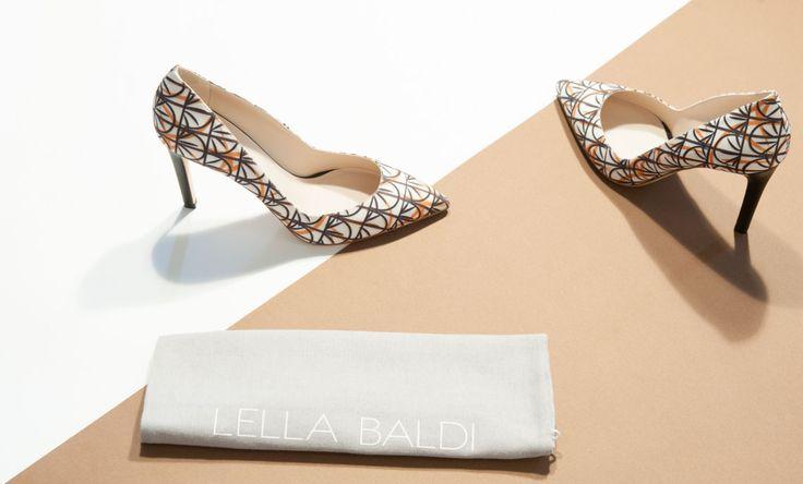 Decolletè Lella Baldi shoes in tessuto con tacco a spillo.