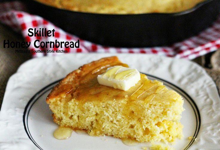 ... Cornbread | Recipe | Skillets, Honey cornbread and Southern style