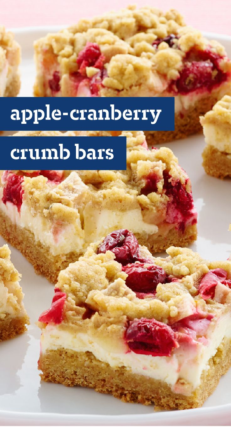 Apple-Cranberry Crumb Bars – The addition of chopped Gala apples and ...