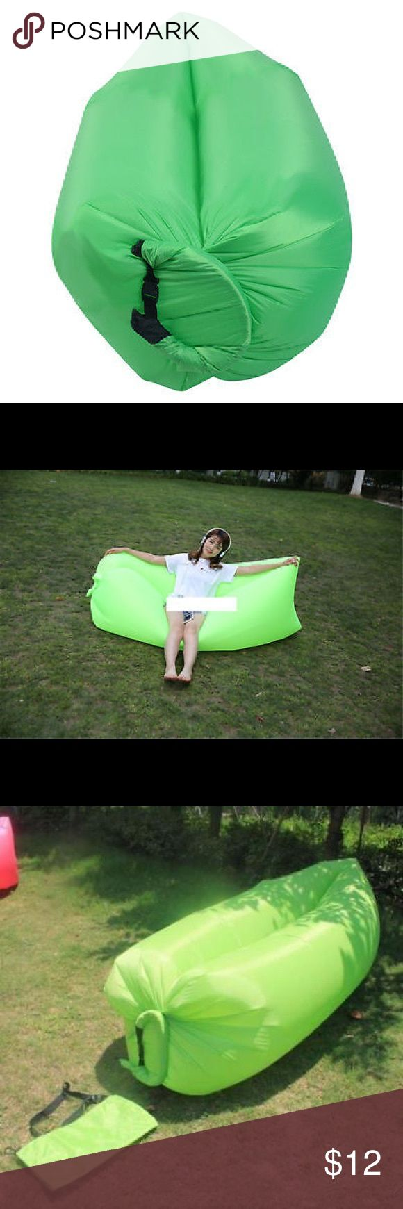 Inflatable Air Sofa Bed Lazy Sleeping Camping Bag New Inflatable Air Sofa Bed Lazy Sleeping Camping Bag Beach Hangout Couch - Brand new and high quality - Fully waterproof so it can also be taken into the pool or the sea - Whether you are preparing for this year's festival season, your holidays, camping, picnics, the list goes on, or just for lounging at home in front of the TV, you'll no doubt find a new use for it every day Other