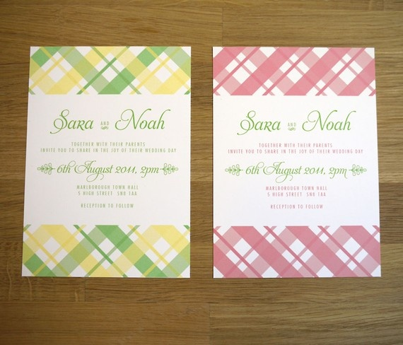 Love these gingham invites