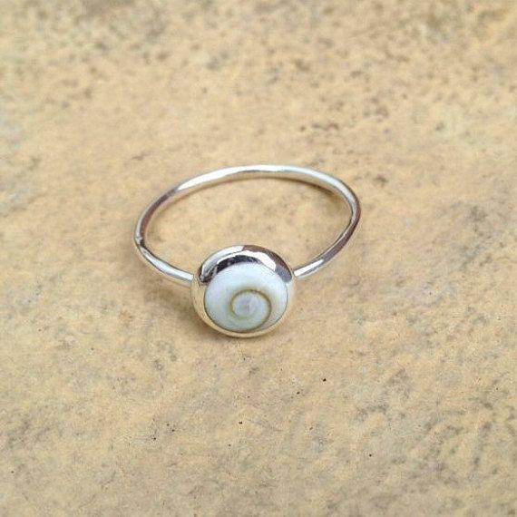 Silver Shiva Eye Ring/ Sterling Silver Boho by AVBohoJewellery
