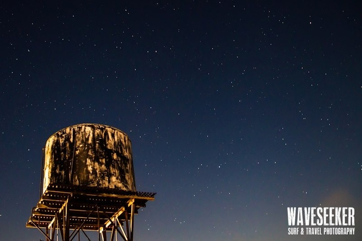 // Old water tank under the stars / Western Australia