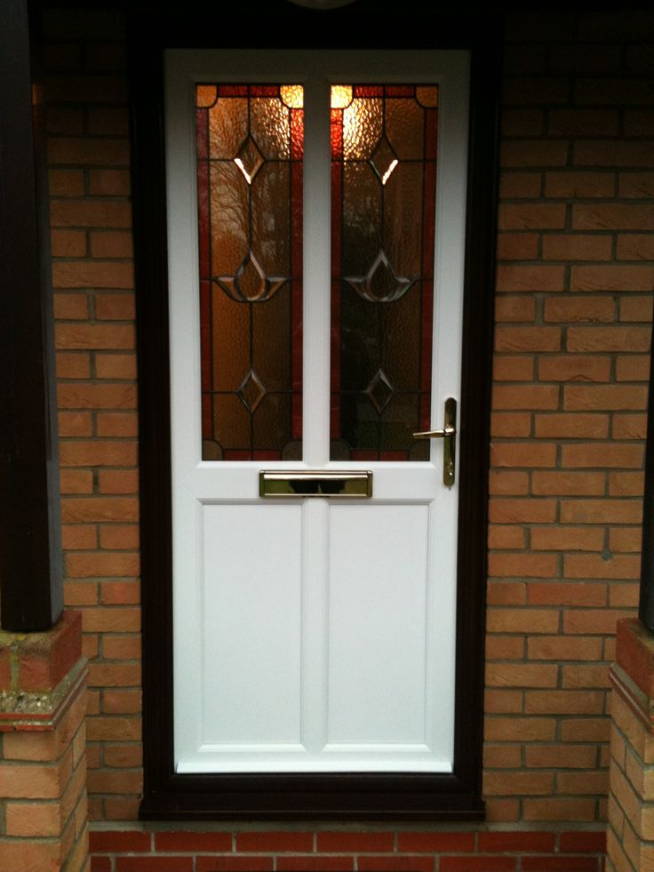 White PVCu Door inside Black PVCu Frame. Like this design? Live In Design provides a wide range of stunning PVCu Doors! http://www.live-in-design.co.uk/pvcu_doors_eastleigh.html