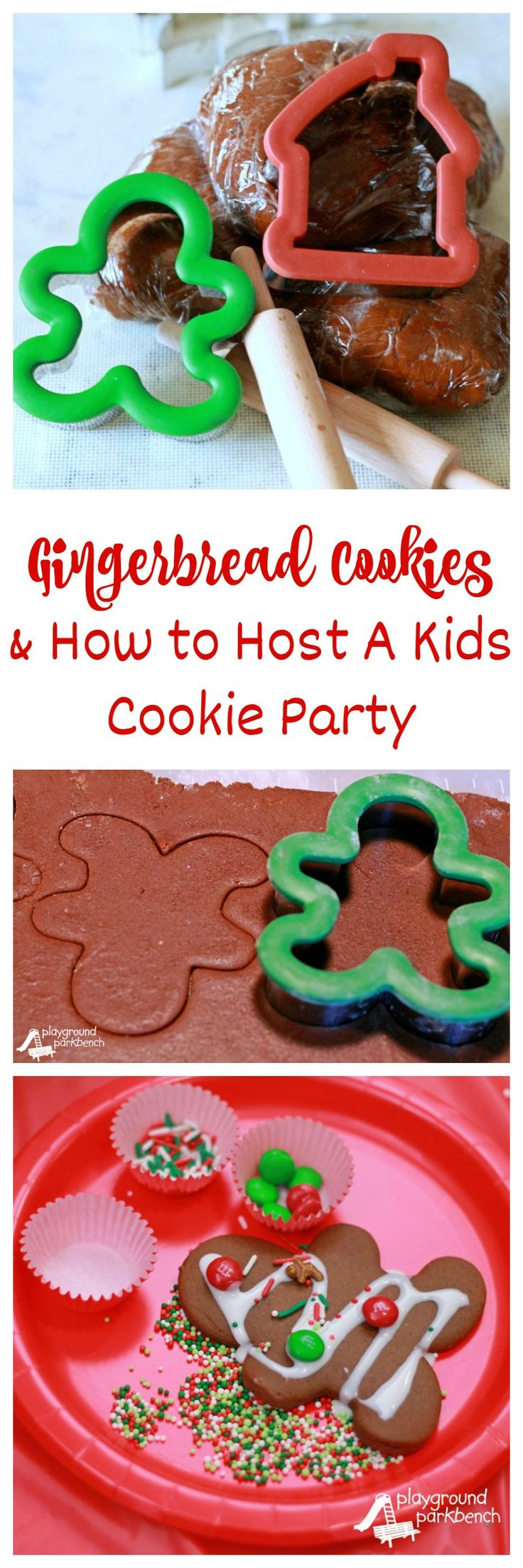 My family's favorite recipe for Gingerbread Cookies and tips for hosting a cookie decorating party with preschoolers and toddlers, an annual Christmas tradition