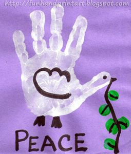 Handprint Dove from Handprint and Footprint ART