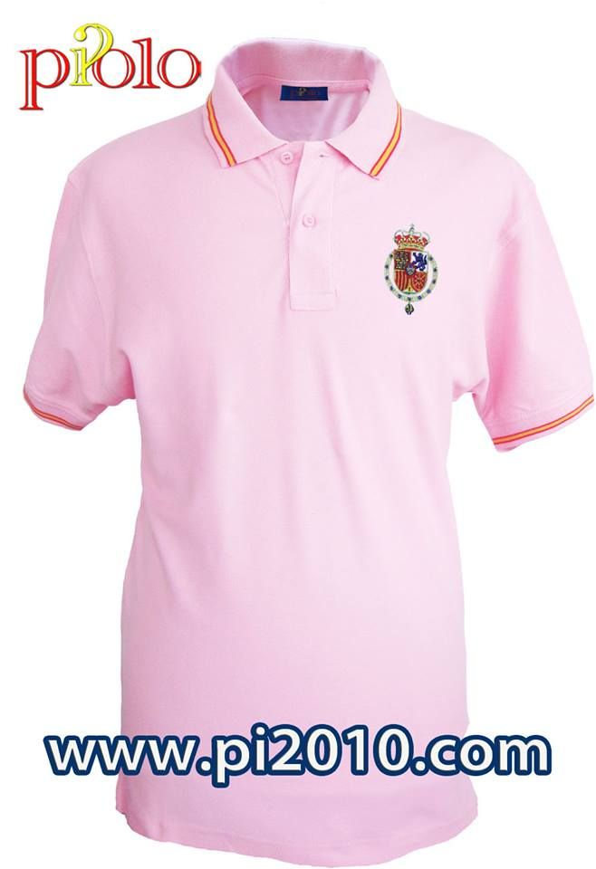 Polo rosa bordado Casa Real S.M. D.Felipe Vihttp://www.pi2010.com/polo-Bandera-Espa%C3%B1a-1843/Polo-casa-real-hombre Si te gusta, comparte