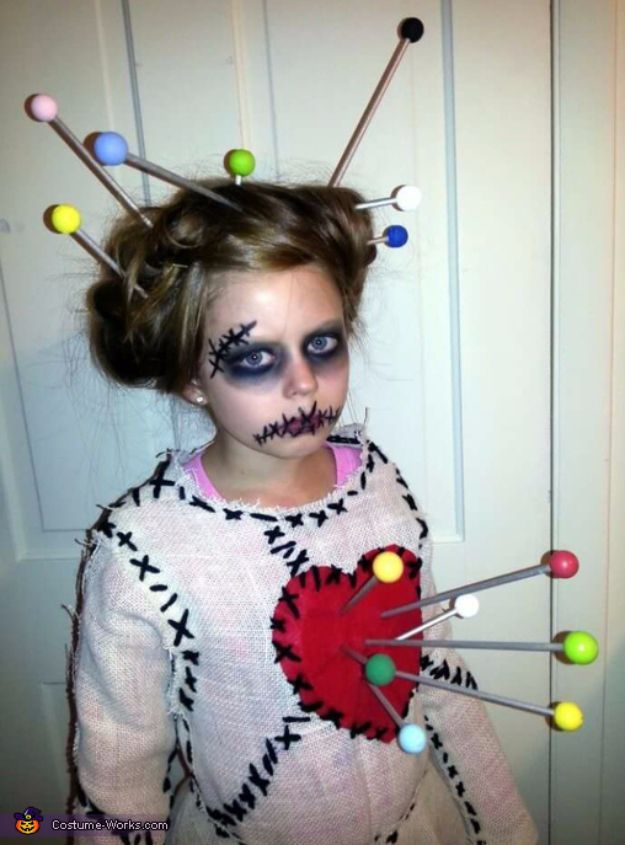 Best DIY Halloween Costume Ideas - voodoo-doll-costume - Do It Yourself Costumes for Women, Men, Teens, Adults and Couples. Fun, Easy, Clever, Cheap and Creative Costumes That Will Win The Contest http://diyjoy.com/best-diy-halloween-costumes #halloweencostumesforwomen