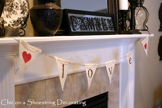 Chic On A Shoestring Decorating A Little Valentine S Day
