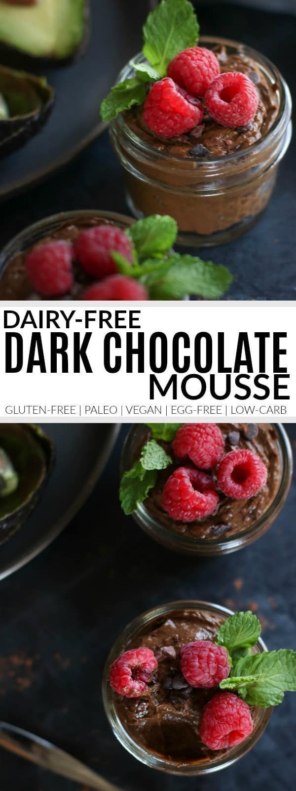 Dairy Free Dark Chocolate Mousse   gluten-free chocolate mousse   paleo chocolate mousse   vegan chocolate mousse   healthy chocolate mousse recipe   healthy dessert recipes   gluten-free desserts   vegan desserts    The Real Food Dietitians #glutenfreechocolate #vegandessert #chocolatemousse #healthychocolatedesserts #paleofoodrecipes