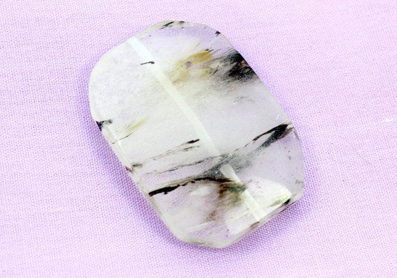 Top Quality Quartz Gemstone Q-3218 11 Ct For Making Jewelry Awesome Tourmalated Quartz 16x12x7 mm Oval Shape Cabochons Loose Gemstone