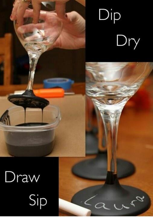 DIY Chalkboard Wine Glass