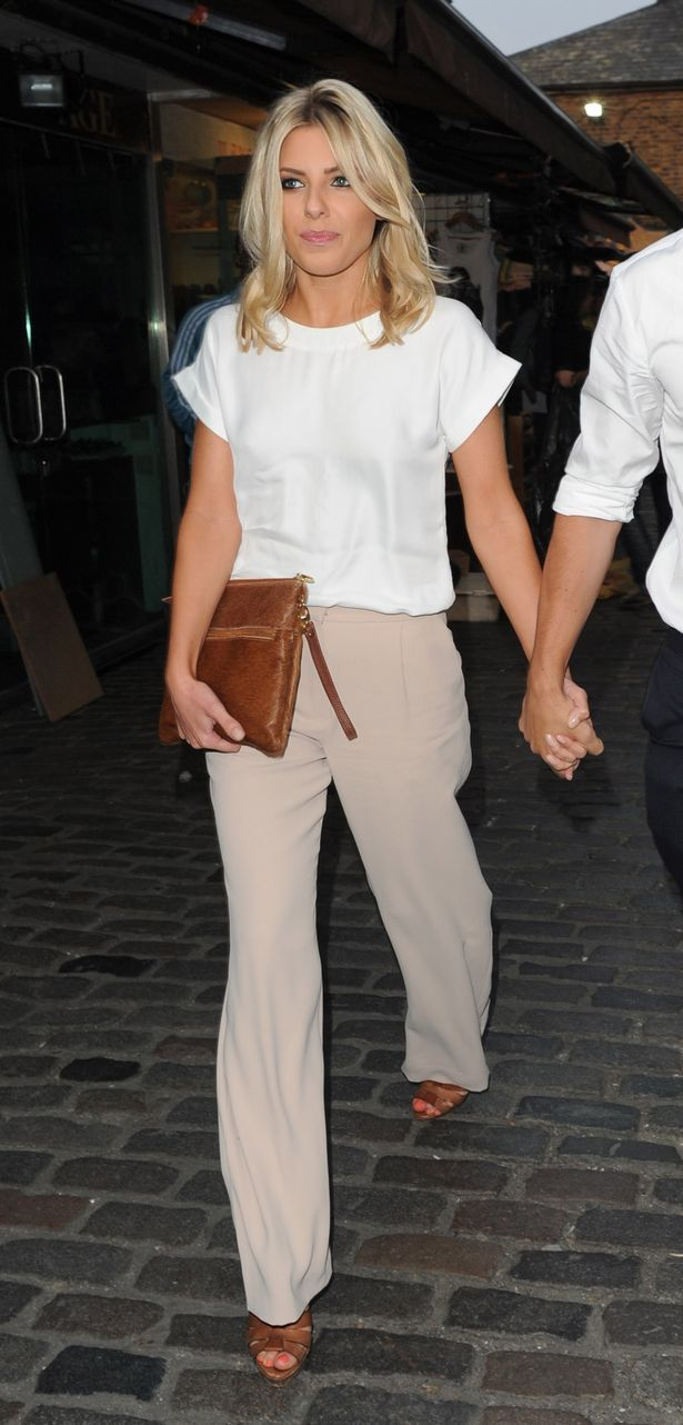 Evening look. Class it up with a silk top, beige pants and any wedges.
