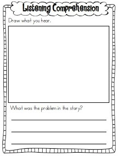 FREEBIE! Listening Comprehension recording sheets- 5 versions!