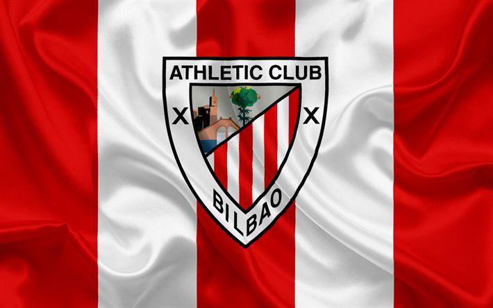 Descargar fondos de pantalla Athletic de Bilbao, club de fútbol, el emblema, el Athletic de Bilbao, el logotipo, La Liga bbva, Bilbao, España, de la LFP, los Campeonatos de Fútbol español