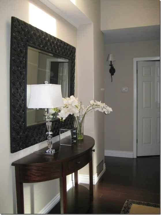 Black Mirror and Hallway Decor