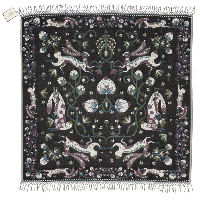 Klaus Haapaniemi - Large rabbit shawl black