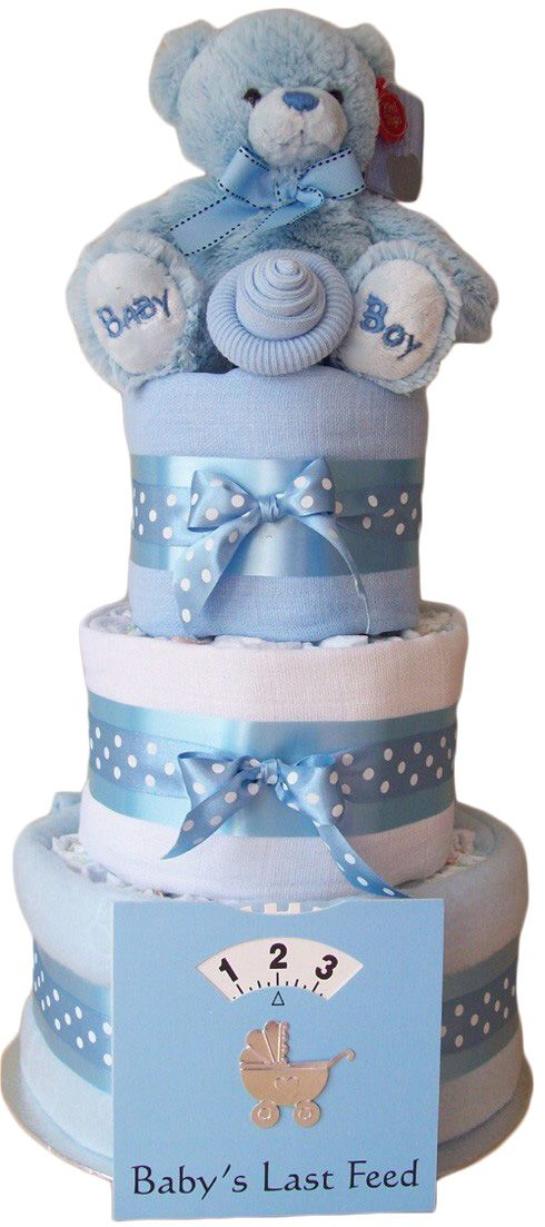 Diaper Pyramid For Baby Shower Part - 42: Gorgeous Nappy Cake · Pamper CakeBaby Shower ...