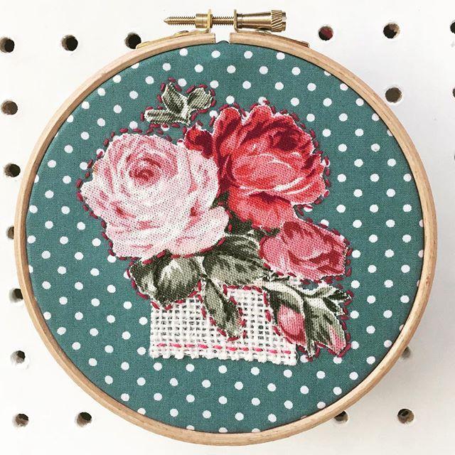 Floral hoop art.....
