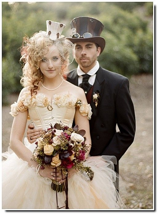 Are you a dramatic individual bride who will theme her wedding based on her loves and lifestyle? Si algún día me caso, quiero que sea un casamiento steampunk <3