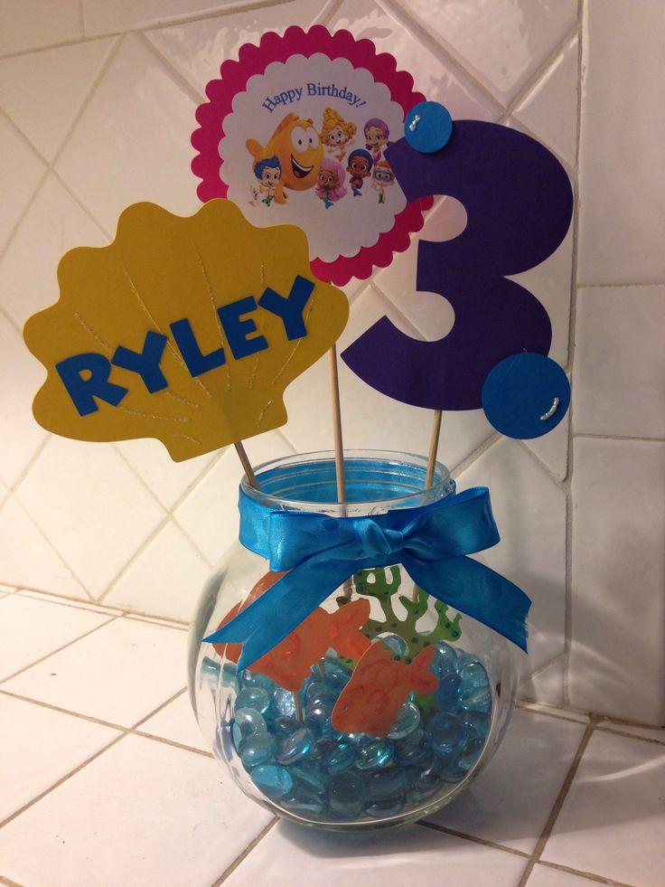Bubble Guppies center piece! Find me on FB at Baby La La's Craft Bowtique to order yours!