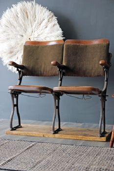 Vintage 1890-1905 Two Seater Cinema Seats