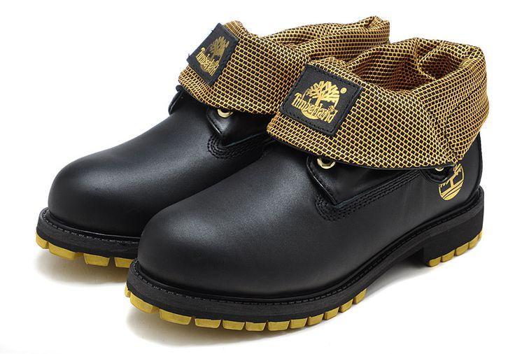 Timberland Men Boots Black golden,Fashion Winter Timberland Men Shoes,black timberland boots for kids