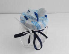 Blue butterfly - Borcanel decorat cu fluturas