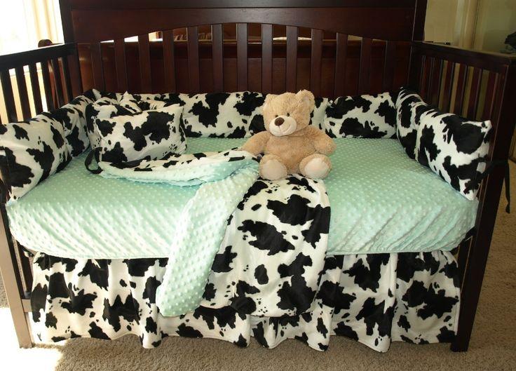 Cow Print Baby Bedding Set
