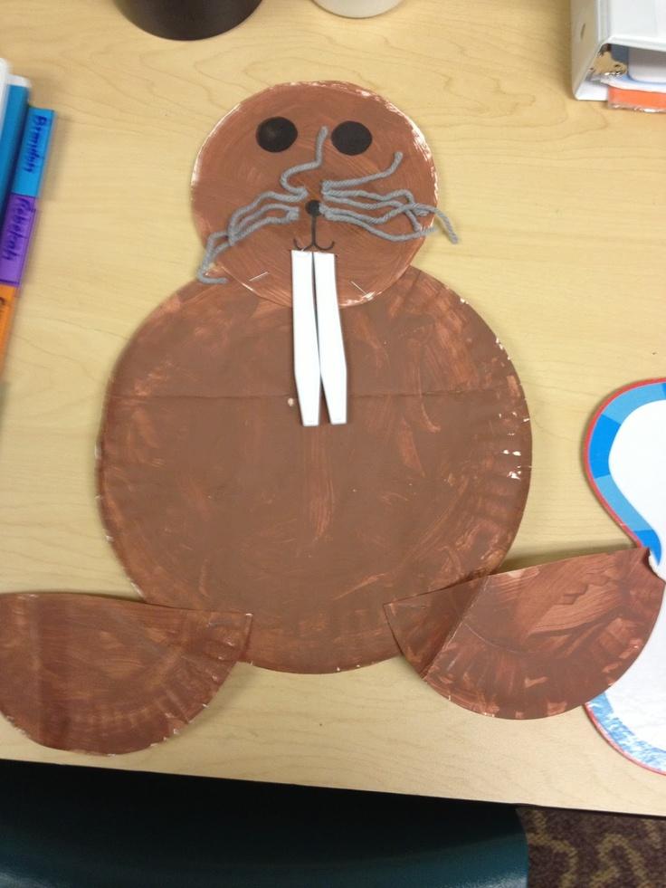 Miss Allison's Class: Polar Animals Walrus Craft