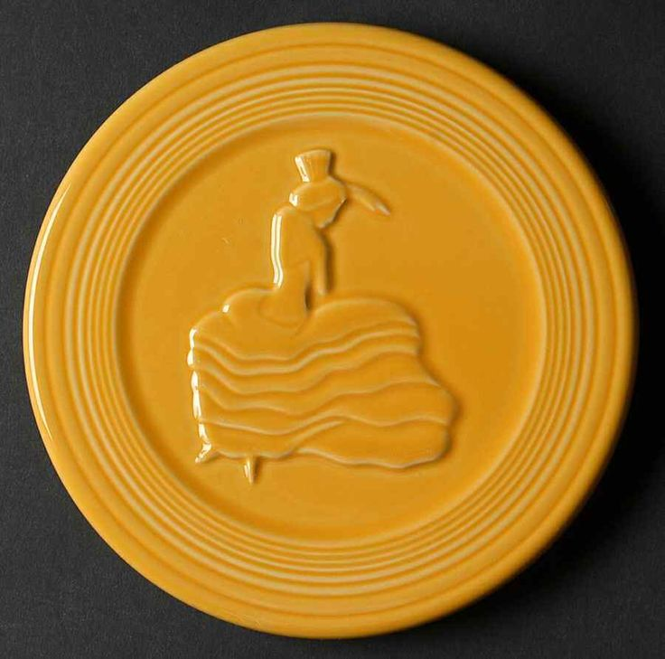 Homer Laughlin FIESTA MARIGOLD (CONTEMPORARY) Trivet 9469264 #HomerLaughlin