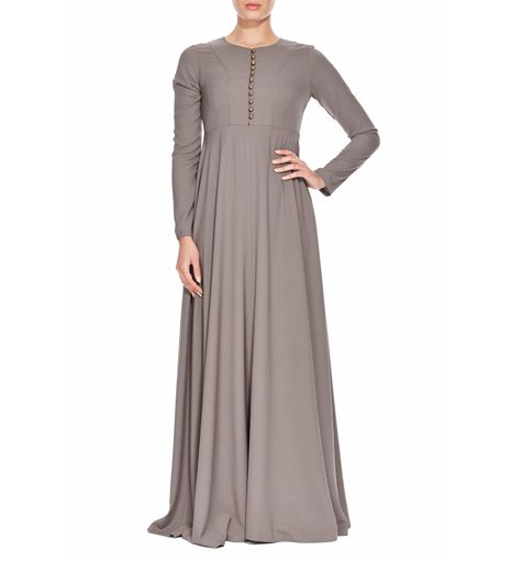 SOFT ASH ABAYA SOFT ASH ABAYA - Islamic clothing and Abayas [] - £59.99 : Inayah, Islamic clothing & fashion, abayas, jilbabs, hijabs, jalabiyas & hijab pins