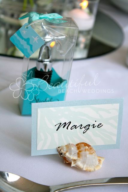 Natural Scallop Shell Table Number Holders