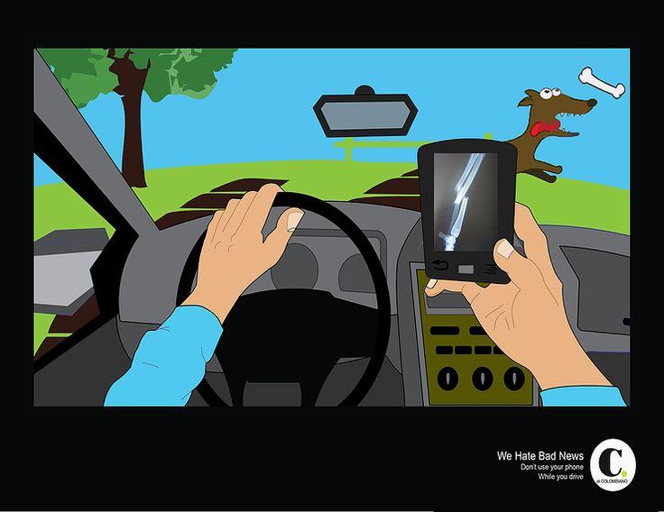 Pieza el colombiano prevención accidentes por el uso del Celular