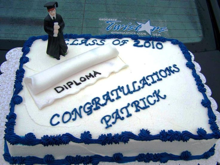 Graduation Cake For Guys