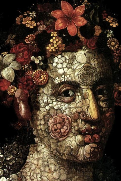 Giuseppe Arcimboldo, Flora (detail), c. 1591