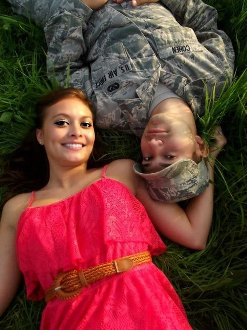 Army engagement picture... Too cute