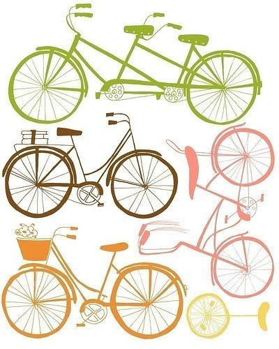 We are collecting bicycle themed prints for a room in our new house - might have to get this one.
