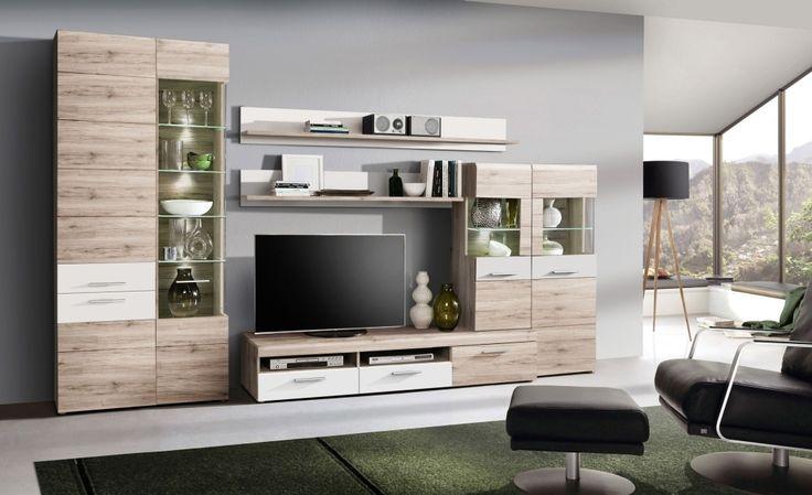 Wohnwand NABOU Ideen rund ums Haus Pinterest Möbel discount - moderner wohnzimmerschrank mit glastüren und led beleuchtung