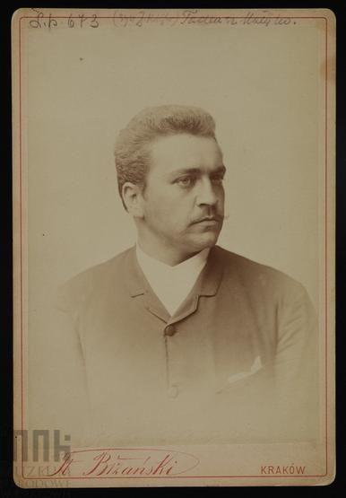 Stanisław Bizański, Tadeusz Matejko - w popiersiu, między 1891 a 1893 r.  #listopad #movember #wąsy #moustache #november