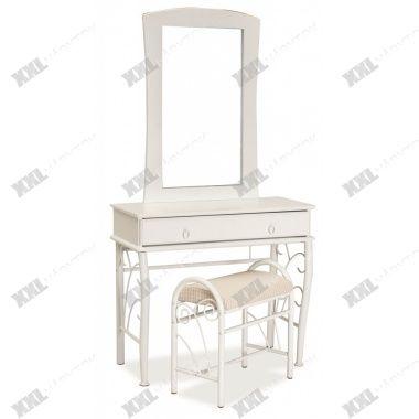 Toaletný stolík so stoličkou 1102 - biela