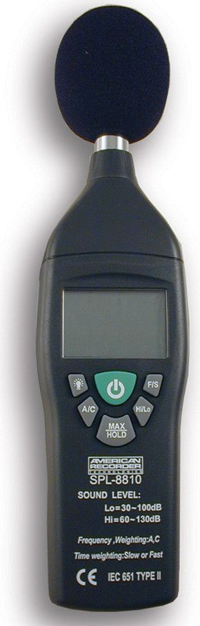 Full Function Sound Level Meter - meets IEC 651 Type 2 standard