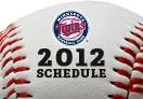 Minnesota Twins 2012 Schedule!  Go Twins!
