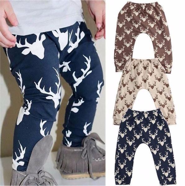 Toddler Kids Baby Boys Girls Elastic PP Harem Pants Trousers Leggings Sweatpants