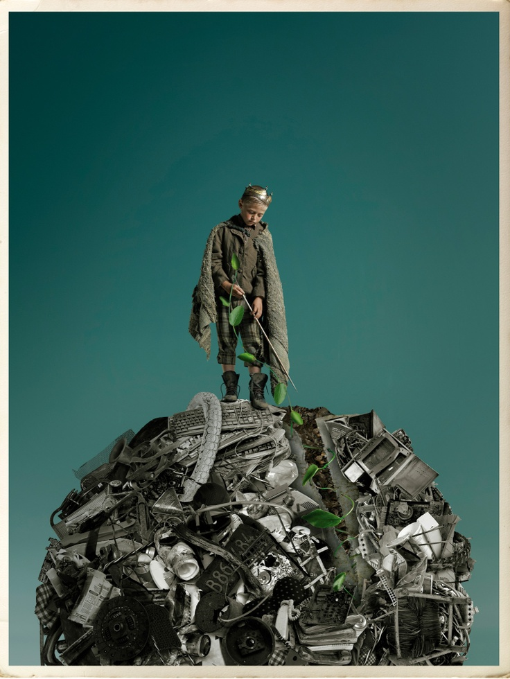 Gaby Herbstein : Photographer: Gaby Herbstein, Illustration: Pablo Bernasconi,  Project to raise awareness of future generations about the importance of using recycled materials