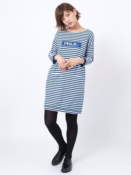 STRIPED BOAT NECK DRESS(カットワンピース) MILKFED.(ミルクフェド) calif(カリフ) B's INTERNATIONAL公式通販サイト