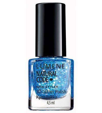 Lumene Natural Code Nail Styler 3D Glitter -kynsilakka, sävy 59 Blue Galaxy