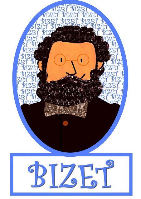 Ssissimonea: COMPOSSITORES retrato Ssissimoneado de BIZET