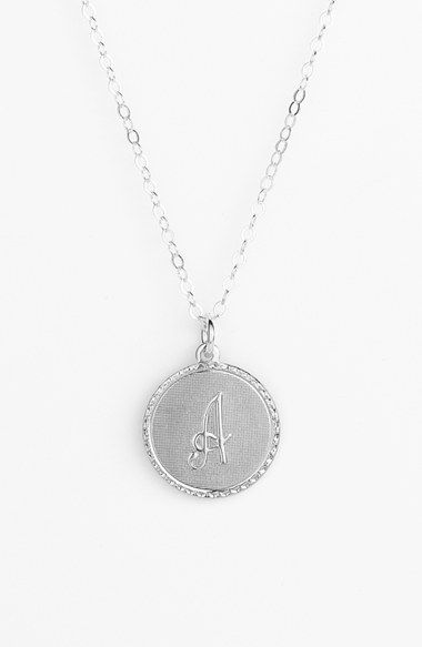 Moon and Lola 'Dalton' Initial Pendant Necklace available at #Nordstrom